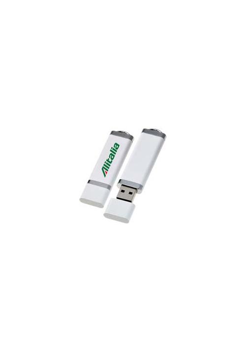 Memoria USB in Plastica Bianca