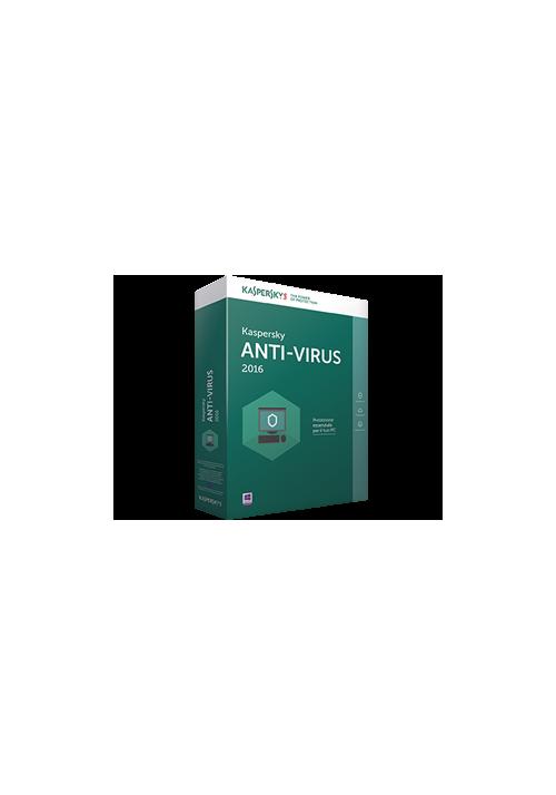 Kaspersky Anti-Virus 2016 1pc 12mesi